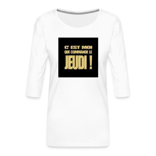 badgejeudi - T-shirt Premium manches 3/4 Femme