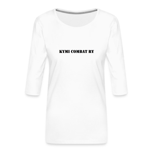kc musta teksti transparent png - Naisten premium 3/4-hihainen paita