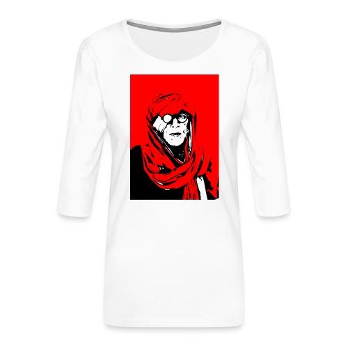 L'homme rouge représente la terre rouge d'Afrique. - T-shirt Premium manches 3/4 Femme
