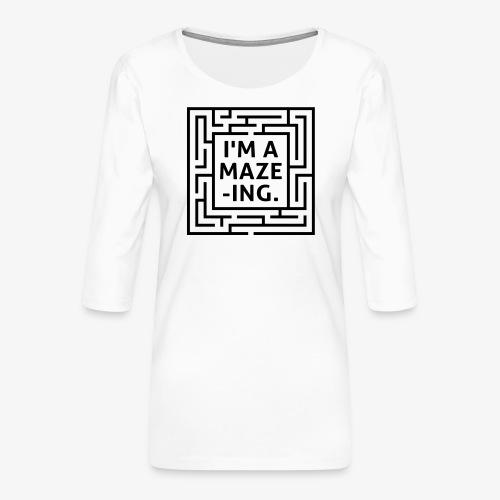 A maze -ING. Die Ingenieurs-Persönlichkeit. - Frauen Premium 3/4-Arm Shirt