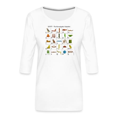 Ägyptisches Alphabet - Frauen Premium 3/4-Arm Shirt