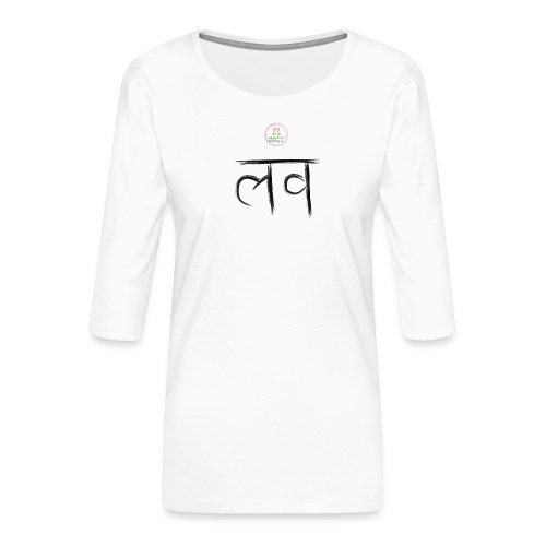 LOve SansKrit Black - T-shirt Premium manches 3/4 Femme