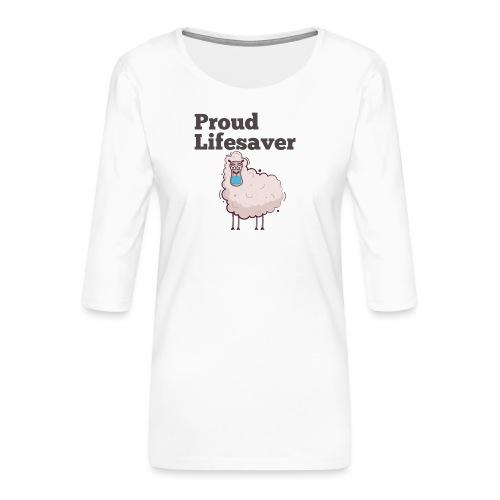 Schlafschafe retten Leben mit Mundschutz - Frauen Premium 3/4-Arm Shirt