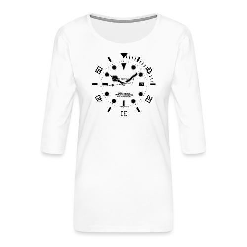 Submarine Luxury Watch Dial Details - Women's Premium 3/4-Sleeve T-Shirt