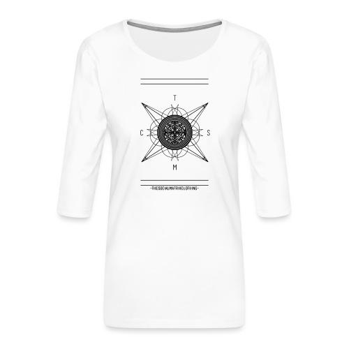 DE PIONEER - Vrouwen premium shirt 3/4-mouw