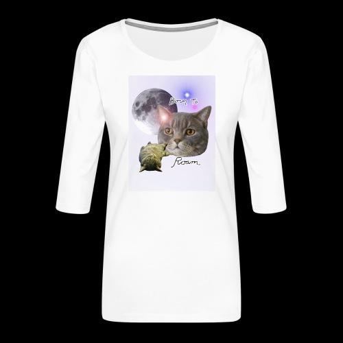 Sieni- muki erilaisille juomaseoksille - Naisten premium 3/4-hihainen paita