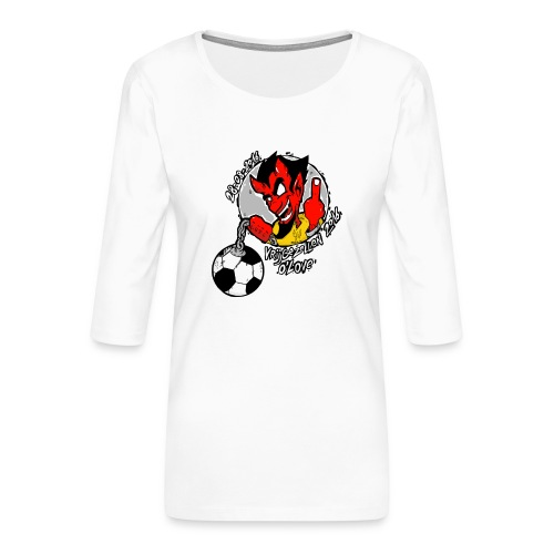 ontwerp_vrijgezellen3 - Vrouwen premium shirt 3/4-mouw