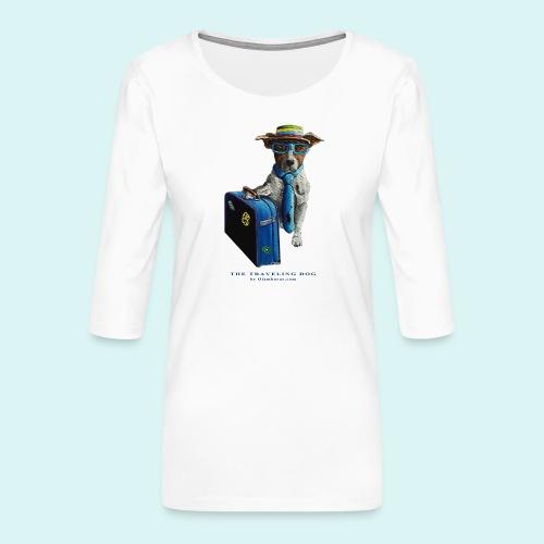 The Traveling Dog - Women's Premium 3/4-Sleeve T-Shirt