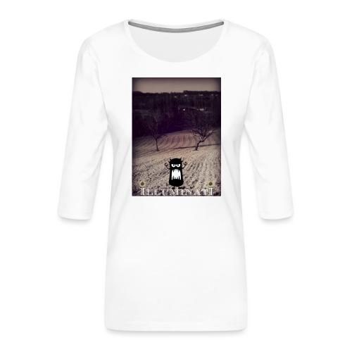 illuminati - T-shirt Premium manches 3/4 Femme