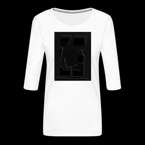 Dark Negative - Women's Premium 3/4-Sleeve T-Shirt