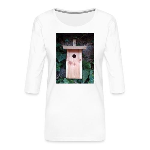 Der Nistkasten - Luxus für den Garten-Vogel - Frauen Premium 3/4-Arm Shirt