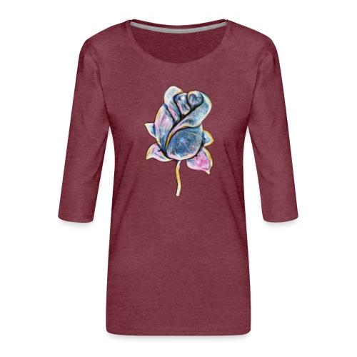 Fiore - Maglietta da donna premium con manica a 3/4