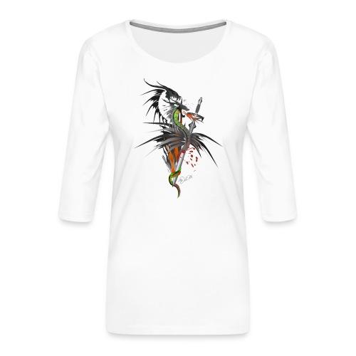 Dragon Sword - Drachenkampf - Frauen Premium 3/4-Arm Shirt