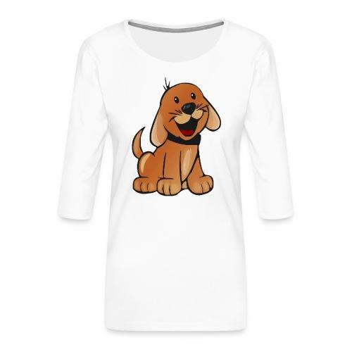 cartoon dog - Maglietta da donna premium con manica a 3/4