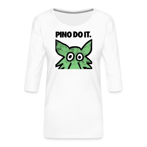 PINO DO IT - Maglietta da donna premium con manica a 3/4