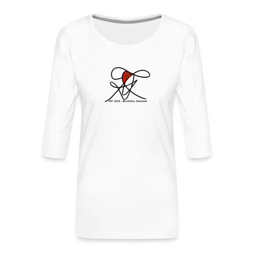 Bornholm Tee - Dame Premium shirt med 3/4-ærmer