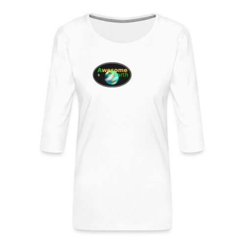 awesome earth - Women's Premium 3/4-Sleeve T-Shirt