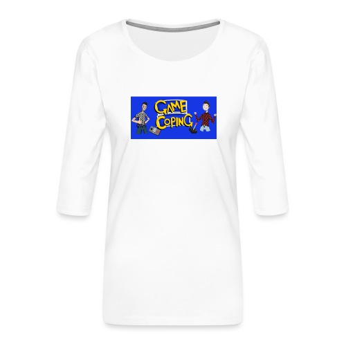 Game Coping Happy Banner - Women's Premium 3/4-Sleeve T-Shirt