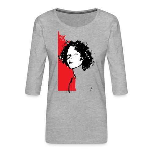 L'enfant rouge représente la terre rouge d'Afrique - T-shirt Premium manches 3/4 Femme