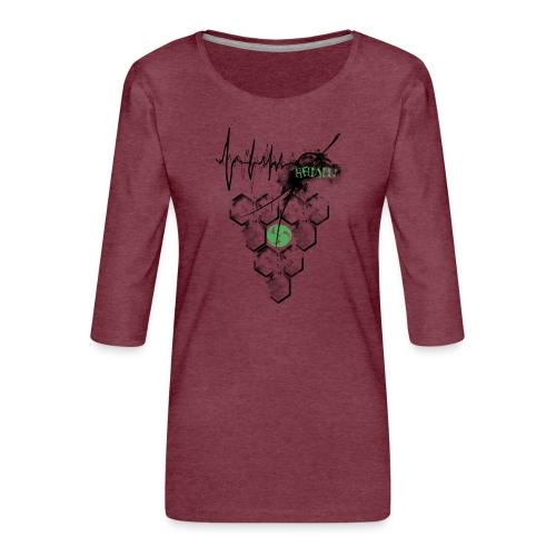 Raijin Hero-Heartbeat - Frauen Premium 3/4-Arm Shirt