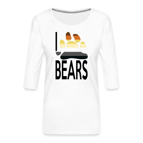 I love bears - T-shirt Premium manches 3/4 Femme