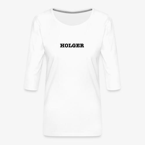 Holger TS damer - Dame Premium shirt med 3/4-ærmer