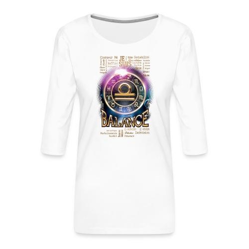 BALANCE - T-shirt Premium manches 3/4 Femme