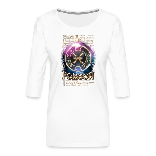 POISSONS - T-shirt Premium manches 3/4 Femme
