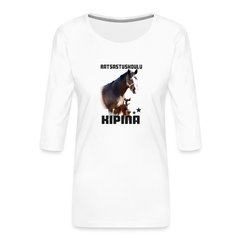 Kipinän selkäpainatus - Naisten premium 3/4-hihainen paita
