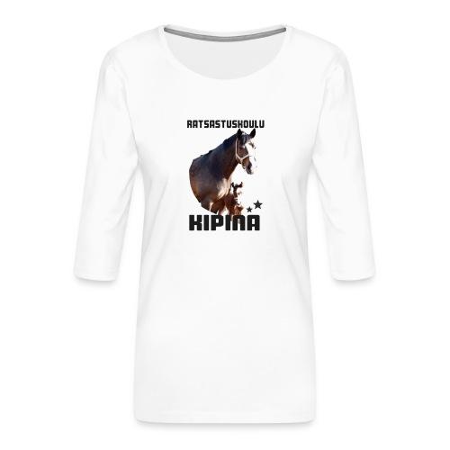 Kipinän t-paita - Naisten premium 3/4-hihainen paita