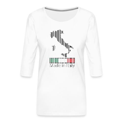 Made in Italy - Maglietta da donna premium con manica a 3/4