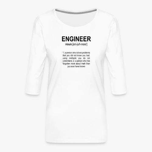 Engineer Def. 2 Black - T-shirt Premium manches 3/4 Femme