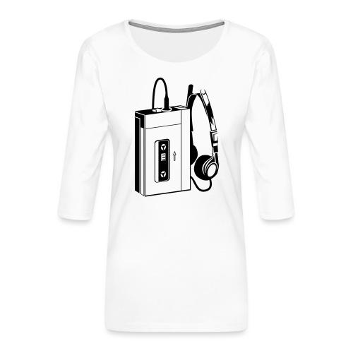 WALKMAN - T-shirt Premium manches 3/4 Femme