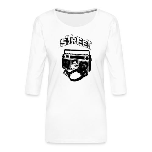 street 1 - Dame Premium shirt med 3/4-ærmer