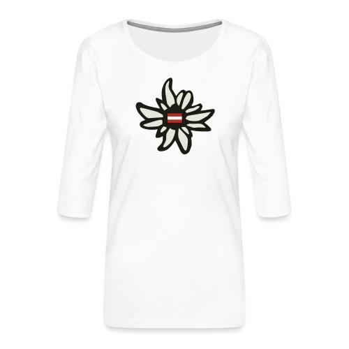 Edelweiss Austria - Frauen Premium 3/4-Arm Shirt