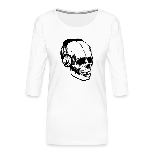 lydbog_6 - Dame Premium shirt med 3/4-ærmer