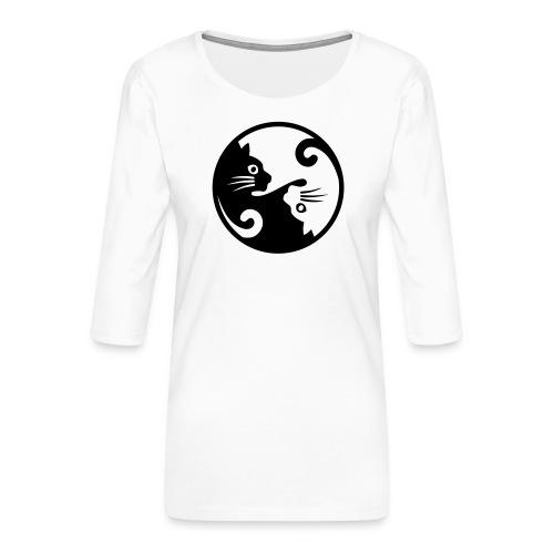 katten - Vrouwen premium shirt 3/4-mouw