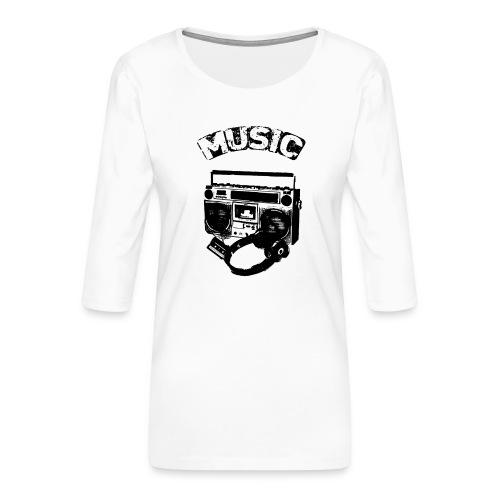 musik1 - Dame Premium shirt med 3/4-ærmer