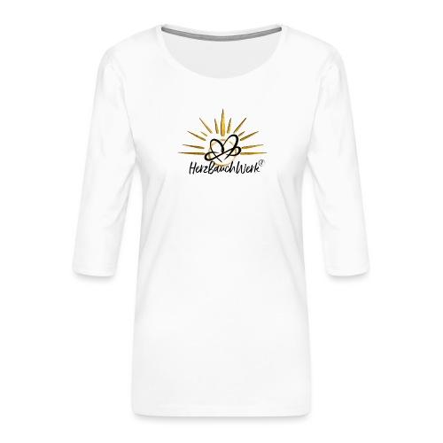 HerzBauchWerk Gold - Frauen Premium 3/4-Arm Shirt