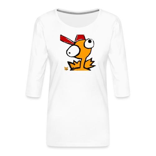 cross-eyed chick - Maglietta da donna premium con manica a 3/4