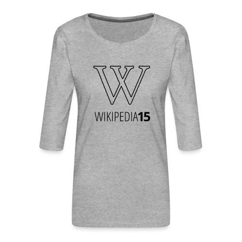 W, rak, vit - Premium-T-shirt med 3/4-ärm dam