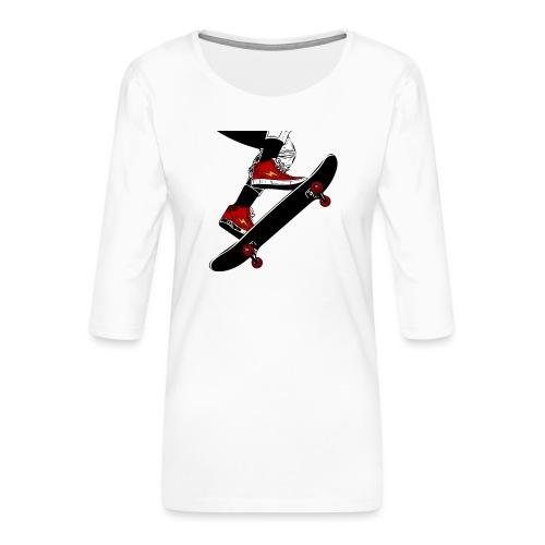 Skating - Maglietta da donna premium con manica a 3/4