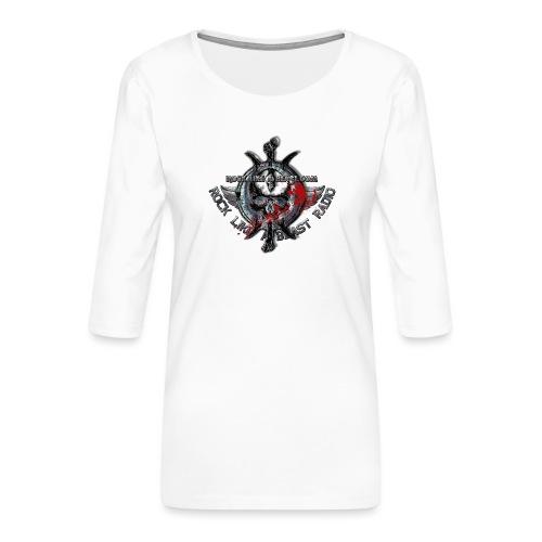 Blood Skull Logo - Premium-T-shirt med 3/4-ärm dam
