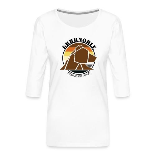 Logo 1 GRRRNOBLE BEAR ASSOCIATION - T-shirt Premium manches 3/4 Femme
