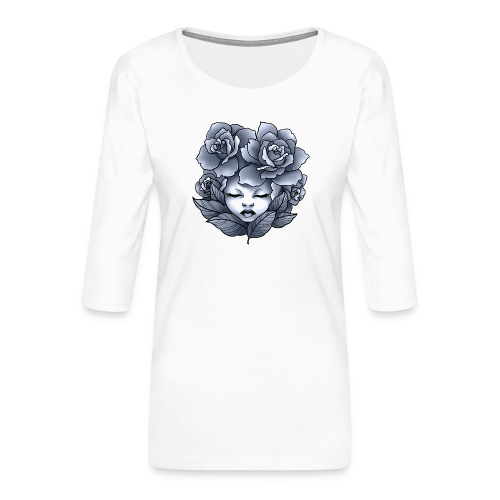 Flower Head - T-shirt Premium manches 3/4 Femme