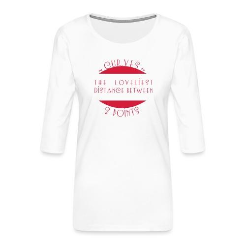 Curves - Naisten premium 3/4-hihainen paita