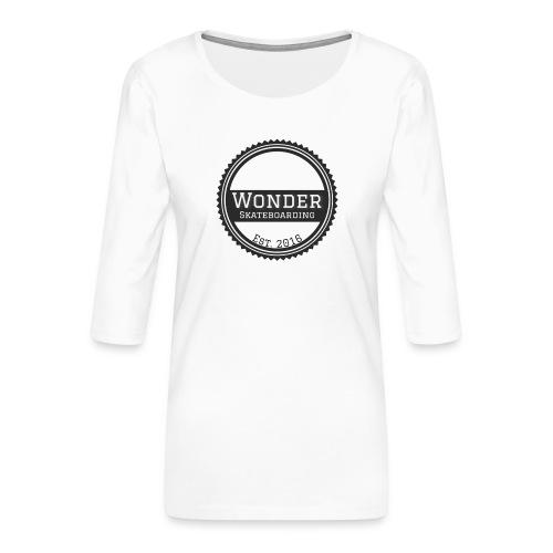 Wonder unisex-shirt round logo - Dame Premium shirt med 3/4-ærmer