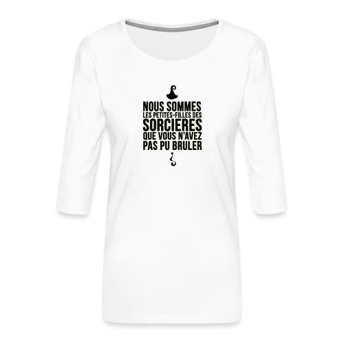 filles de sorcières - T-shirt Premium manches 3/4 Femme