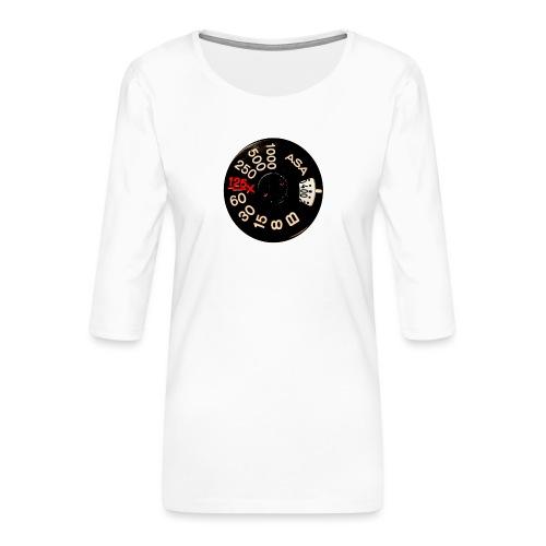 Manual Camera - Maglietta da donna premium con manica a 3/4