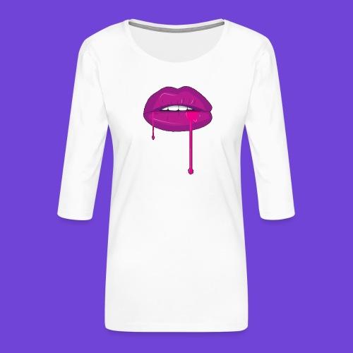 Purple Kiss - Maglietta da donna premium con manica a 3/4